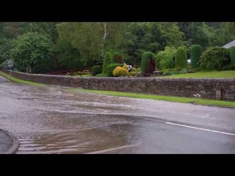 Flooded Road Perth Perthshire Scotland July18th