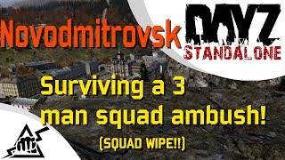 DayZ Standalone (alpha) [3PP: OFF] - Novodmitrovsk.. Surviving a 3 man squad ambush
