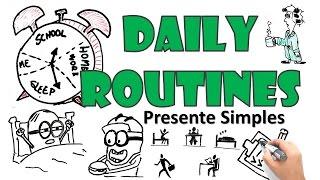 Rotinas diárias em inglês | Simple Present | Draw My English
