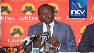 Who is playing rough on Jubilee SG Raphael Tuju? || AM Live