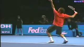 Saque de Federer En camara lenta