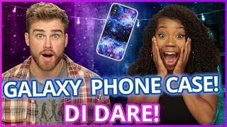 DIY GALAXY PHONE CASE?! | Di Dare w/ James Boyd & Arianna Jonae