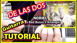 Cómo tocar DE LAS 2 NORIEL 😊 🙌 Tutorial Guitarra fácil Bad Bunny Arcangel