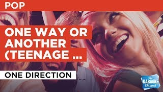 One Way Or Another (Teenage Kicks) in the style of One Direction | Karaoke with Lyrics