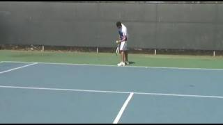 Novak Djokovic serve ball bounce