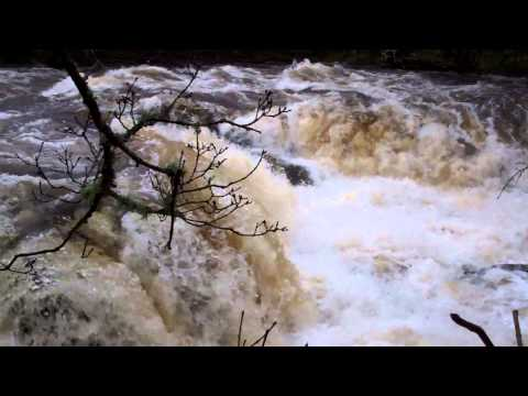 Wild River Braan After Heavy Rain Highland Perthshire Scotland
