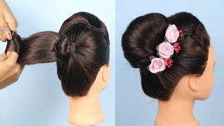 Easy and beautiful french roll Hairstyles | French Bun hairstyle for party/wedding | hairstyles 2019
