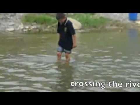 taking kids to swim, pokhara nepal 2