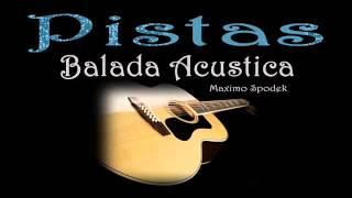 PISTA BASE DE BALADA ACUSTICA EN E A F# B