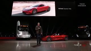 Elon Musk presenta la nuova Roadster di casa Tesla