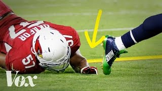 How the NFL's magic yellow line works width=