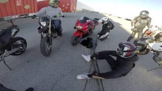 HE LOST A LOCK! - HONDA CBRF4 Wheelie loop !