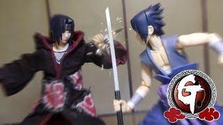 Itachi VS Sasuke-Naruto Stop Motion うちはイタチ VS うちはサスケ  火影忍者-宇智波佐助 VS宇智波鼬