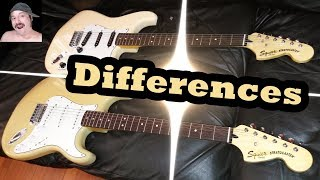 Squier Vintage Modified Stratocaster Differences
