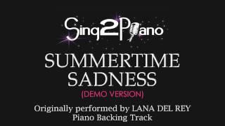 Summertime Sadness (Piano Karaoke Version) Lana Del Rey