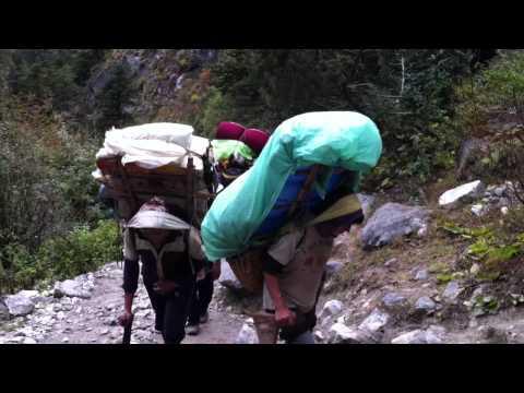 Sherpa with 120 kilo load