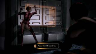 Mass Effect 2 Femshep and Kelly Chambers romance scene