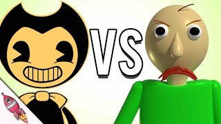 "Baldi's Basics vs Bendy and the Ink Machine Rap Battle ""Who's Scarier?""   #RockitGaming"