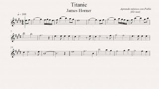 TITANIC:  Eb Inst (saxo alto, saxo barítono) (partitura con playback)