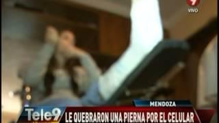Mendoza: Le quebraron una pierna por el celular