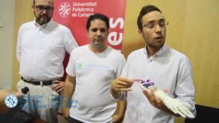 Un alumno de la Politécnica de Cartagena crea manos biónicas de bajo coste mediante impresión 3D