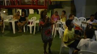 """Elizama Anastácia e Alex Amorim participando do """"Feijão com Samba Natal"""""""