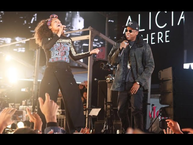 Video de Alicia Keys & Jay Z cantando Empire State of Mind en vivo en Times Square