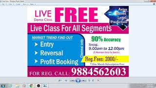 ASTRO BASED LEVEL TRAINING FOR NSE MCX TRADING FEES 2000/-