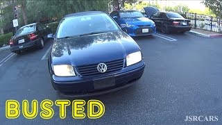 Jetta & E36 Get Busted For Hooning