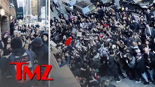 The Weeknd Gets Mobbed By Fans Leaving Colbert Show   TMZ