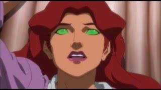Nightwing coquetea a Starfire video llamada- Liga de la justicia vs Jovenes Titanes