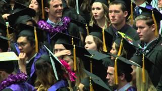 Harry Potter theme played at University of Portland graduation I #UP15