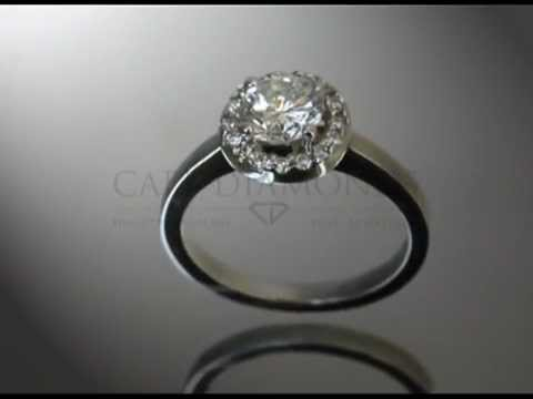 Complex side stone ring,big white diamond,small round diamonds around,engagement ring.