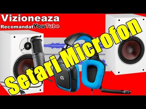 Mareste Volum Microfon Si Bas Casti /Voce de Radio Si Alte Setari