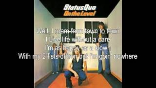 Status Quo The Wanderer (lyrics)