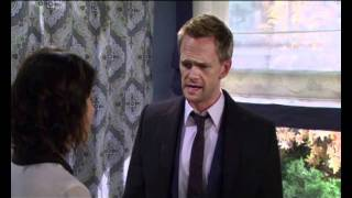 Barney's reaction on Robin's pregnancy HIMYM