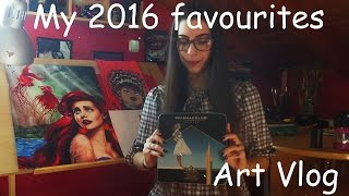 My top 5 favourite art materials for 2016 (Art Vlog )