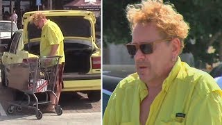Sex Pistols Legend Johnny Rotten Shows His Mellow-Yellow Side In Malibu