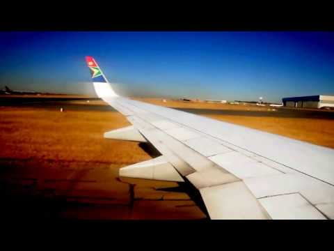 Final Approach to Johannesburg International,  South African Airways