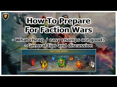 RAID Shadow Legends | How To Prepare For Faction Wars