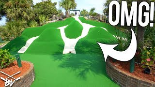 YOU HAVE TO SEE THIS CRAZY MINI GOLF COURSE! - SO MANY HOLE IN ONES!