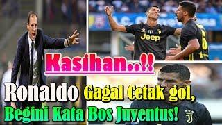 KASIHAN!!! Cristiano Ronaldo Gagal Cetak Gol, Begini Kata Bos Juventus! width=