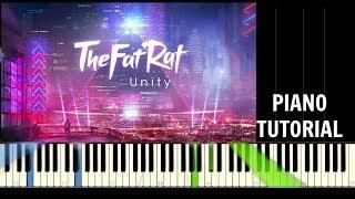 TheFatRat - Unity - Piano Easy Tutorial - Synthesia