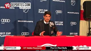 Veljko Paunovic Chicago Fire eliminado por New York Red Bulls