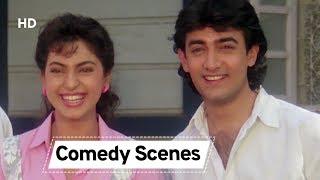 90's Comedy Movie Blockbuster Scenes |Juhi Chawla | Aamir Khan | Hum Hai Raahi Pyaar Ke