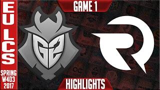 G2 vs Origen Game 1 - EU LCS W4D3 Spring 2017 - G2 vs OG G1