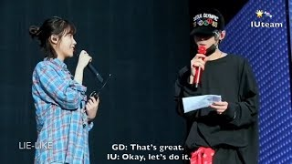 [ENG SUB] GD and IU (아이유) Rehearsing for Motte In Seoul (DVD) width=