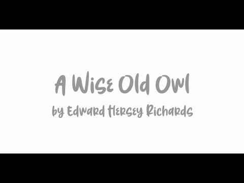 2020媽媽教我的詩 - A Wise Old Owl (英語類團體組) - YouTube