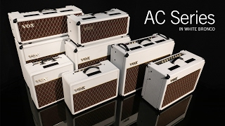 VOX Limited Edition White Bronco Custom Series Amplifiers