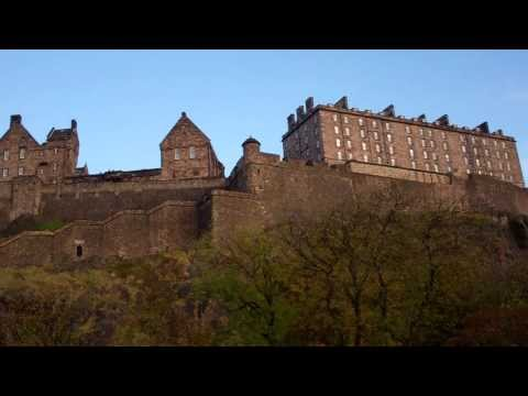 Autumn Dusk Edinburgh Castle Scotland